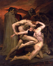 William-Adolphe Bouguereau (1825-1905) - Dante And Virgil In Hell (1850)