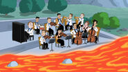 Orchestra and flowing lava