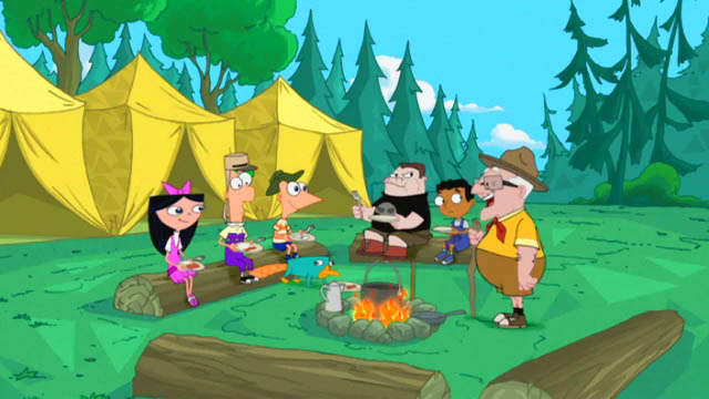 File:Grandpa Clyde and the kids around the campfire.jpg
