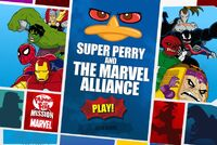 Phineas and Ferb - Super Perry and The Marvel Alliance menu card