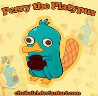 Perry the Platypus-Keychain, by Chukairi