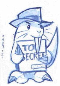 Agent R Sketch Card, by LEXLOTHOR