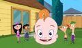 Candace as Gaint Baby Head