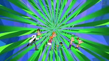 Phin, Ferb, Candy, Doof, and Perry Run Through a Dimension.jpg