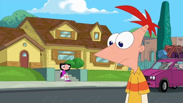 File:Isabella and Phineas across the street to each other.jpg