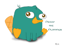 Perry the Platypusbaby, by pink-Bowser