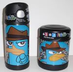 Secret Agent P thermos and food jar Funtainers