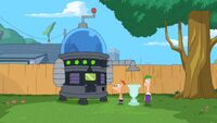 Space Laser-inator, built by Phineas and Ferb