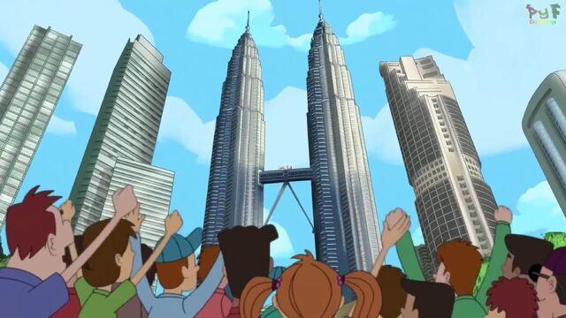 File:The gang atop the bridge in the Petronas Twin Towers in Malaysia.jpg