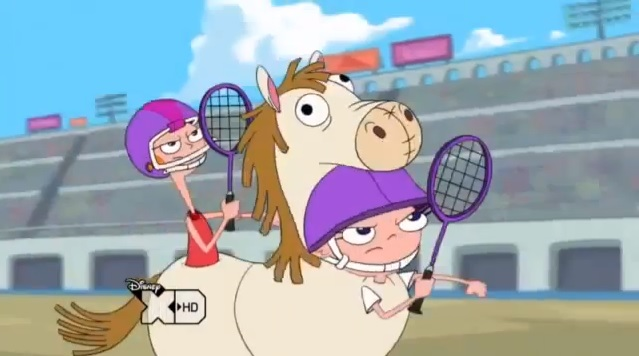 File:Candace and Isabella in a horse costume.jpg