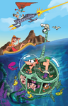 Phineas and Ferb Promotional Art Submarine by Anthony Vukojevich
