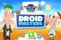 Phineas and Ferb Star Wars - Droid Masters menu card