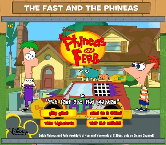 File:The Fast and the Phineas game title screen.jpg