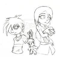 Little-Finny request - sketch, by REDEYEREAPER