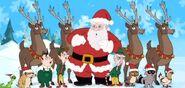 Santa and animal carpe diem
