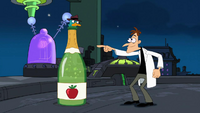 Agent P trapped in bottle of sparkling cider