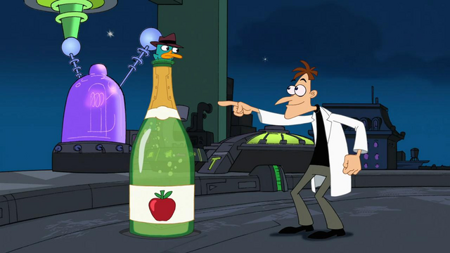 File:Agent P trapped in bottle of sparkling cider.png