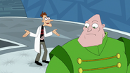Doof 'accidentaly' pressed the self destruct button