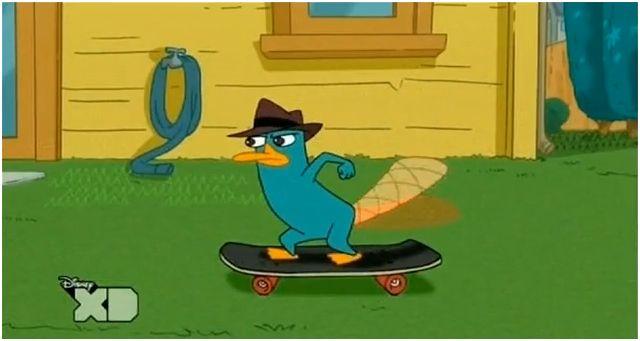File:Agent P on Skateboard.JPG