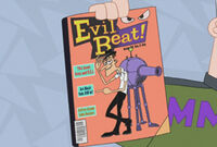 Dance Ray on the cover of Evil Beat! magazine