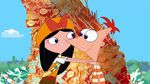 Isabella holding Phineas shoulders