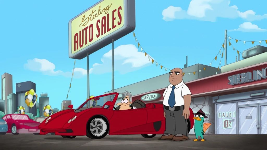 Doofenshmirtz trying out a red sportscar.jpg