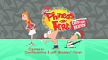 Phineas and Ferb Christmas Vacation! title card with credits