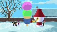 Constructing huge snow cones