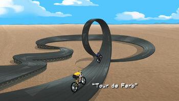 Tour de Ferb title card