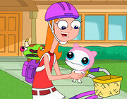 Candace holding Meap