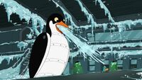 Giant Robotic Penguin Icy Freeze Your Socks Off Breath-inator thingy
