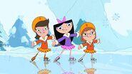 Fireside Girls ice skating