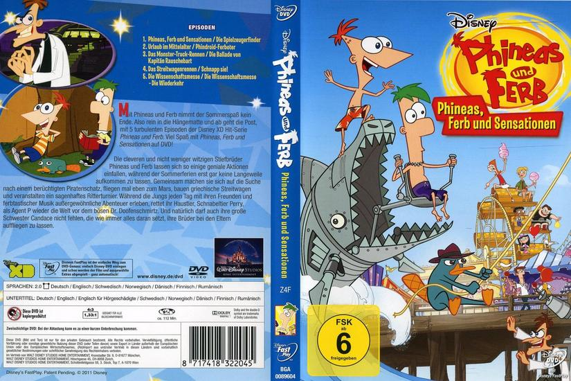 phineas und ferb phineas ferb und sensationen dvd. Black Bedroom Furniture Sets. Home Design Ideas