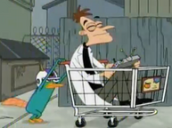 Perry pushing Doof