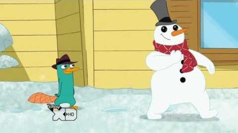 Perry the Platypus and the Snowman