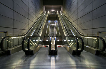 Escalators in Copenhagen Metro