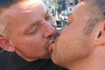 Guy kiss a another guy