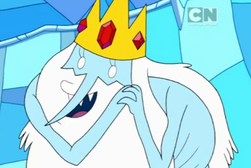 Ice King not wearing his tunic0