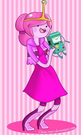 Princess bubblegum and bmo by clauu rawr-d57drmz