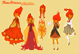 Outfit time flame princess by spicedcoffee-d55c4hh