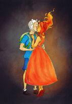 1 finn and flame princess by drakonarinka-d5bedgj