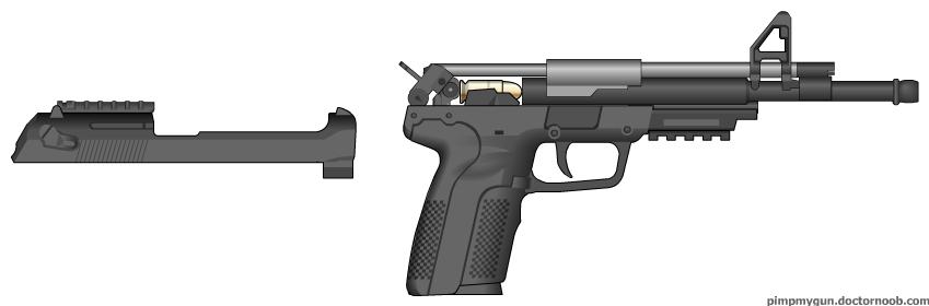 .45 pistool open