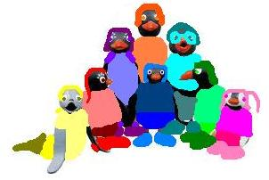 File:Rainbow Penguins and Yellow Seal.jpg