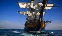 The hms surprise at full sail