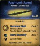 Razortooth Sword