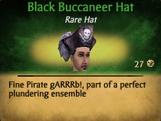 Black Buccaneer Hat