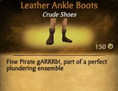F Leather Ankel Boots