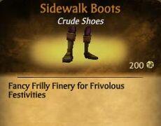 F Sidewalk Boots