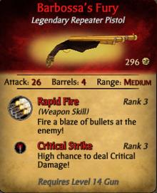 Barbossa's Fury