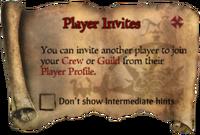 Scroll PlayerInvites